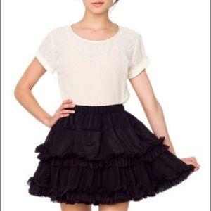 Black American Apparel tutu skirt